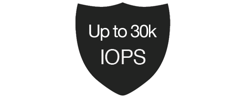 Up to 30k IOPS