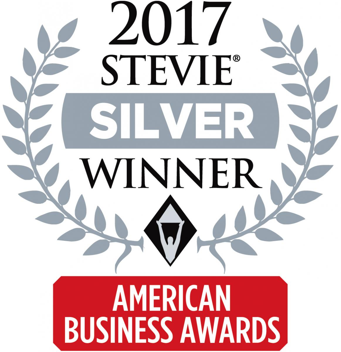 Stevie Silver Award Winner 2017